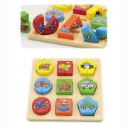 Dřevěné puzzle vkládačka - doprava Viga