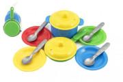 Sada nádobí plast barevné 12 ks