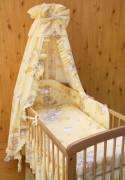 Souprava do postýlky 4dílná Mráček žlutá 120 x 90 cm
