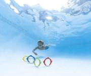 Zábavné kruhy/ryby pro potápění ve vodě