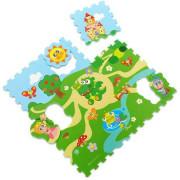Hračka puzzle pěnové Hrad 30x30 cm 9 ks