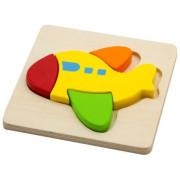 Dřevěné puzzle pro nejmenší - letadlo Viga