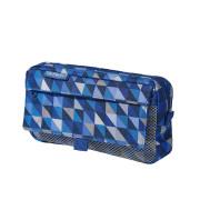 Pouzdro 2 kapsy Herlitz - Gemetrické tvary, Modré