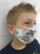 Látková respirační rouška - maska pro děti 3 - 6 let medvídci
