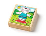 Puzzle šatní skříň Kočička, 18 dílků