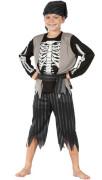 Šaty na karneval - kostra piráta, 130-140 cm