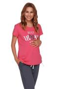 Těhotenské pyžamo růžová Best mom