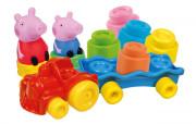 Clemmy baby - Peppa Pig - vláček s kostkami