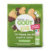 Good Gout BIO Máslová zvířátka polomáčená v hořké čokoládě 120 g