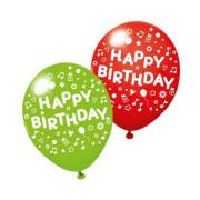 Party balónky 3ks Happy Birthday mix barev