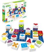 BiOBUDDi stavebnice Learning Symbols Young Ones tvary 26 ks + 1 ks základní deska 18m+