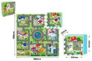 Pěnové puzzle podložka Město 30 x 30 cm