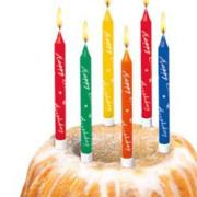 Dortové narozeninové svíčky 10 ks + stojánky