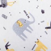 Prostěradlo 100% bavlna jersey 120 x 60 cm Elephant