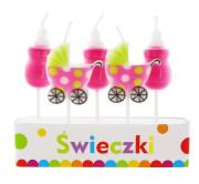 Svíčky dortové - novorozená holka 5 ks