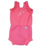 Plavky Happy Nappy kostýmek - Růžové květy