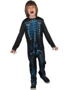 Kostým na karneval - kostra, 120-130 cm