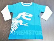 Tričko Prehistoric dlouhý rukáv modré vel. 110/116