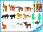 Zvířátka safari 3-6cm s doplňky v tubě 12ks