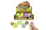 Vejce gumové mačkací sliz s dinosaurem