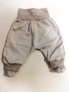 Polodupačky bavlněné MKcool proužek šedý