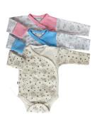 Bavlněné body dlouhý rukáv zavinovací Sovičky Baby Service