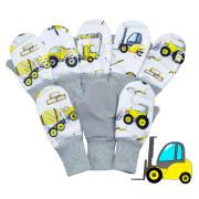 Palcové rukavice Stroje softshell Esito bílá Vel. 1-2 roky
