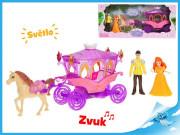 Kočár s koněm s princeznou a princem