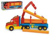 Auto Super Truck stavební s rourami Wader 76cm