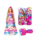 Barbie Princezna s barevnými vlasy set GTG00