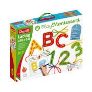 Lacing ABC + 123 alphabets and numbers – provlékací souprava s písankou a omalovánkami