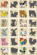 společenská hra pexeso zvířátka a jejich stíny 12 ks