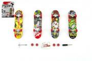 Skateboard prstový šroubovací plast 10 cm s doplňky