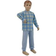 Bavlněné pyžamo modré kostky Esito