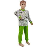 Bavlněné pyžamo zelený puntík Esito Vel. 86 - 122