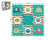Pěnové puzzle sovy 9 ks 32x32 cm