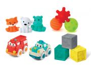 Sada senzorických hraček s autíčky a zvířátky