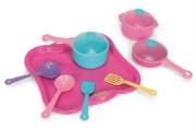 Party World - Tác s hrnky nádobí plast 11 ks růžový Wader