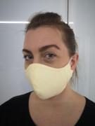 Látková respirační rouška - maska dvouvrstvá kapsou žlutá