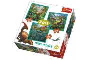 Puzzle 3v1 Svět Dinosaurů