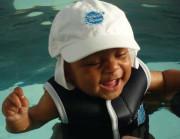 Dětská UV baseballová čepice - bílá