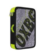 Penál 2 patrový prázdný OXY Sport Grey line green
