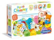 Clemmy baby - kostičky s knížkou, domácí zvířata