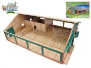 Kravín s dojírnou dřevěný 75x60x26,5 cm 1:32