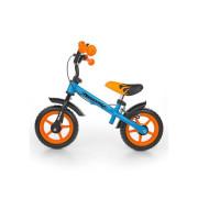 Dětské odrážedlo kolo Milly Mally Dragon s brzdou orange-blue