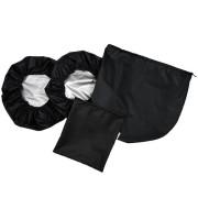 Babyrenka návleky na kola kočárku Thule Glide 3 ks s taškou black