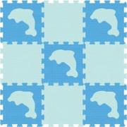Pěnové puzzle podlahové s delfíny 30 x 30 cm, 20 ks
