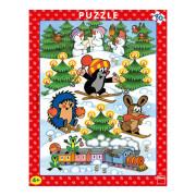 Puzzle Krtek na sněhu 40 dílků