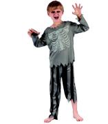 Šaty na karneval - pirát kostra, 120-130 cm