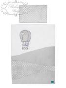 Dětské povlečení 2 dílné Belisima Belisima Balón 100/135 bílé 135 x 100 cm